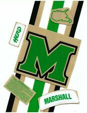 Marshall Football Helmet Decals Free Shipping Kelly Green