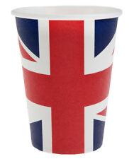Länderdekoration Pappbecher Party Becher Motiv England gedeckter Tisch