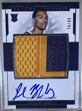 Joel Bolomby Auto 2016-17 National Treasures Set RPA #149 Rookie Logo Patch Jazz