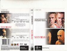 Fight Club-1999-Brad Pitt/Sexy Beast-[2 Disc]-2 Movie-DVD