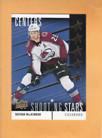 2019 20 UPPER DECK NATHAN MACKINNON SHOOTING STARS CENTERS #SSC-5 AVALANCHE