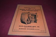 Allis Chalmers D-844 DS-844 Diesel Power Units Parts Book Manual YABE8