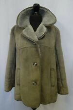 Women's Grey Sheepskin Shearling Coat Size 14