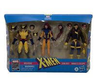 Marvel Legends X-Men Jean Grey, Cyclops, Wolverine 6-Inch Action Figure 3-Pack