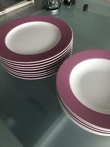 TCM Tchibo 6 Suppenteller Rosa Pink Wie Neu