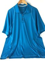 Adidas CLIMACOOL Mens XL Blue Polo Golf Shirt Short Sleeve