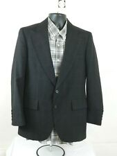 VTG Embassy Square Mens Gray Striped Sport Coat  Two Button Wool 38S