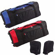 Extra Large Folding Wheeled Holdall Luggage Travel Sports Weekend Carry Bag New