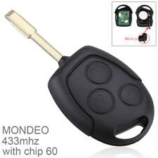 Replacement Car Key Fob Remote Control with Chip 60 for Ford MONDEO Fiesta Focus