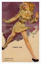 Pin Up Girl Poster 11x17 Mutoscope Art Zoe Mozert American USA army blonde
