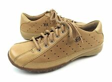 Born Womens 6 Tan Perforated Leather Lace Up Casual Oxfords Sneakers Shoes