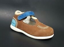Brand New $80 KICKERS Kids Toddler Boys Shoes LEATHER Brown Size 7 USA/23 EURO