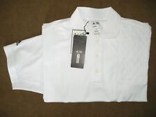 Small Left Hand Trap Pad White Moisture Wicking Polo Shooting Shirt by Adidas