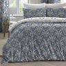Dreams & Drapes Venito Floral Easy Care Duvet/Quilt Cover Bedroom Range Blue