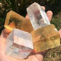 Top! Natural iceland spar quartz crystal mineral Teaching specimen 1KG 15-20PCS