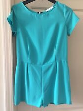 Lush Sz 4/6 Teal Grean Shorts Jumpsuit