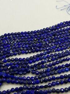 10 Strand AAA Natural 2 MM Lapiz Lazuli Micro Faceted Rondelle Beads 13 Inch  Lapiz Lazuli Micro Faceted Rondelle Beads