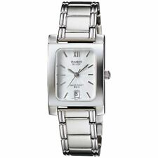 Casio Beside BEL100D-7A Ladies Stainless Steel Dress Watch 50M Silver Dial NEW