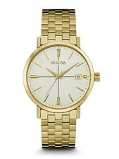 Bulova Classic Men's Quartz Gold-Tone Champagne Dial 40mm Bracelet Watch 97B152