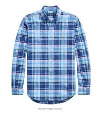 Ralph Lauren Multi Blue Plaid Oxford Long Sleeve Shirt Men's XL NWT $89