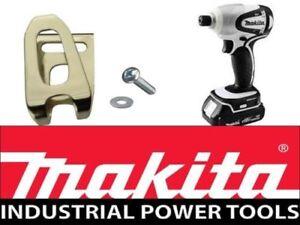 Genuine Makita Belt Hook Clip & Screw Cordless Drill DHP459 DHP480 Dtd129 Dtd146