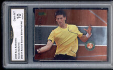 2008 Noval Djokovic Ace Authentic Roland Garros Foil Rookie Gem Mint 10 #RG17