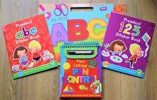 Preschool Educational Bundle Wipe Clean Stickers Numbers Letters Alphabet Gift