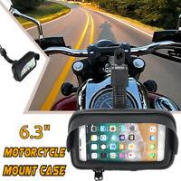 6.3'' Étanche Sac Cas Etui Moto Vélo Scooter Support Téléphone GPS Écran