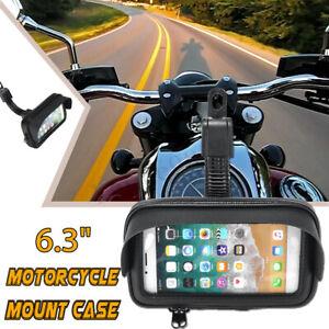 """6.3"""" waterproof bag case etui motorcycle bike scooter gps phone holder screen"""