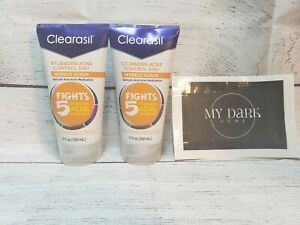 2 ~ CLEARASIL 5 in1 Exfoliating Wash Fights 5 Stubborn Acne Problems 6.78 oz NEW
