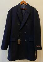 *NEW Michael Kors Men's Wool Blend Navy Blue Peacoat, Size:46R(XXL),Coat,SlimFit