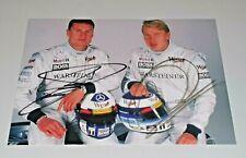 Handsignierte Karte Mc Laren  Weltmeister Mika Häkkinen David Coulthard