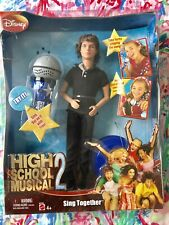 NEW 2007 High School Musical 2 Sing Together TROY Zac Efron Barbie Doll + MiC