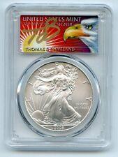 2008 $1 American Silver Eagle Dollar 1oz PCGS MS70 Thomas Cleveland Eagle FS