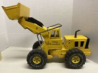MightyTonka Truck Front End Loader 1970s Pressed Steel Construction XMB-975