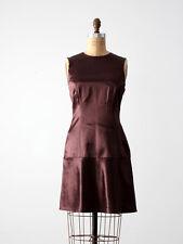 Vivienne Tam sheath dress, silky burgundy cocktail dress, size xs