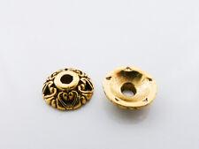 20 X Antiguo Color Dorado Tibetana Estilo Corazón Casquillas endbeads 10mm, Nf Lf mb84