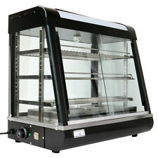 Food Pie Warmer Showcase Commercial Display Warming Cabinet w/Adjustable Shelves