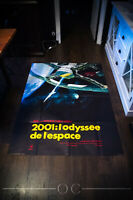 2001 : A SPACE ODYSSEY A 4x6 ft French Grande Movie Poster 1968 rerelease 1980's