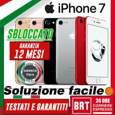 GRADO A+++ SMARTPHONE APPLE IPHONE 7 32GB 128GB 256GB GARANZIA ITALIA 24 MESI !!