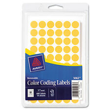 """Avery Handwrite Only Removable Round Color-Coding Labels 1/2"""" Dia Neon Orange8"