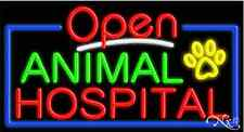 "New ""Open Animal Hospital"" 37x20x3 Border Real Neon Sign W/Custom Options 15445"