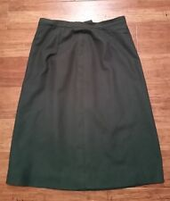 Vintage Pendleton Pencil Skirt Size 10 100% Virgin Wool Dark Green