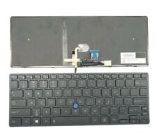 New US backlit keyboard for Toshiba Tecra X40-D with grey frame and trackpoint
