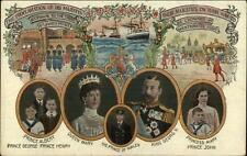 Queen Mary Prince of Wales King George Proclamation c1910 Postcard