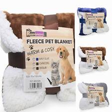 More details for pet animal cat dog car blanket sherpa fleece  warm throw mat