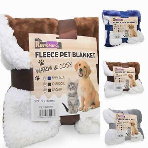 Pet Animal Cat Dog Car Blanket Sherpa Fleece  Warm Throw Mat