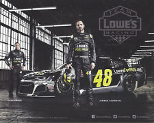 "2018 JIMMIE JOHNSON ""LOWES FOR PROS 1 OF 2"" #48 NASCAR MONSTER ENERGY POSTCARD"