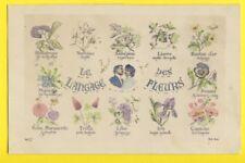 Carte Postale LANGAGE des FLEURS de Marie sa Soeur à Gabrielle CHERBONNEL, PARIS