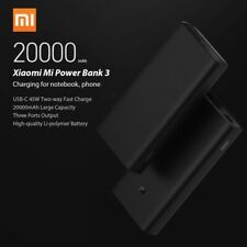 Xiaomi Mi Power Bank 3 Universal External Charger Portable USB-C PD Battery Pack
